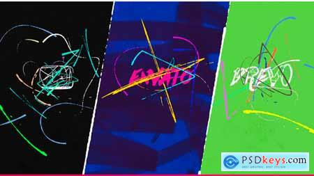 Videohive Minimal Art Logo 4K Intro Brush Oil Paint Markers Fast Draw Opener Simple Logo and Titles Reveal 24525094