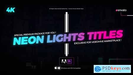 Videohive Neon Light Titles for Premiere 22430415