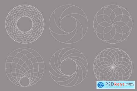 Circular Geometric Overlays