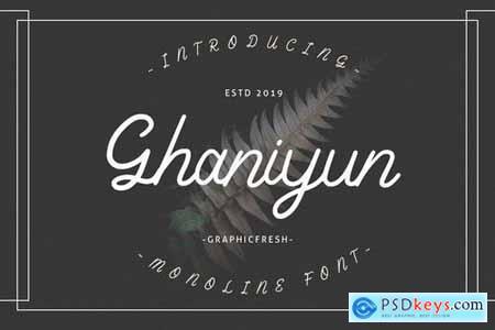 Ghaniyun Monoline Font