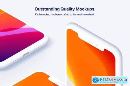 iPhone 11 Pro - 20 Clay Mockups 4156046