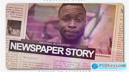 VideoHive Newspaper Story Slideshow 20372757