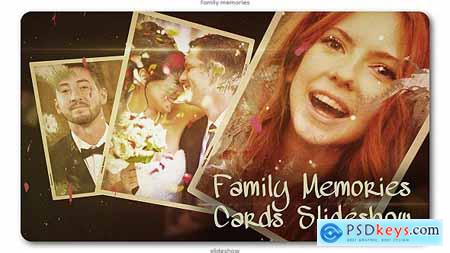 VideoHive Family Memories Cards Slideshow 20054047
