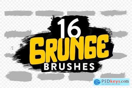 16 Grunge Brushes