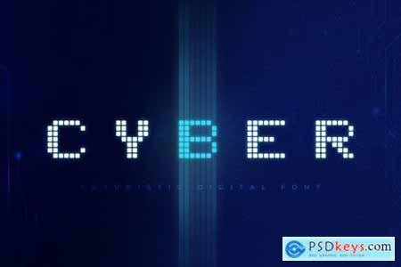 Cyber - Technology Font