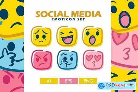 Social Media Emoticon Set
