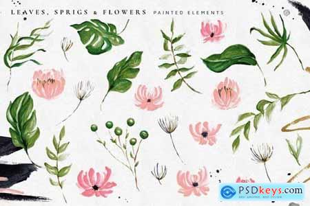 Tropical Foliage Illustration Pack