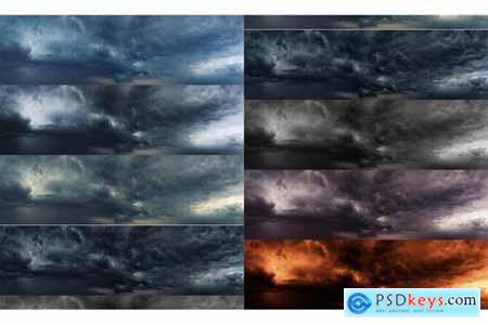 Ultra Wide Set of Dramatic Sky and Clouds