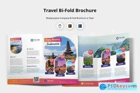 Bifold Brochure Template - Travel Agent