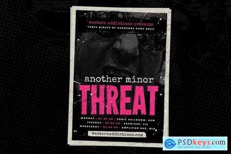 Another Threat Punk Rock Flyer Template
