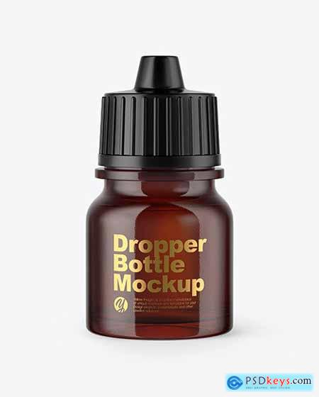 5ml Amber Glass Dropper Bottle Mockup 50403