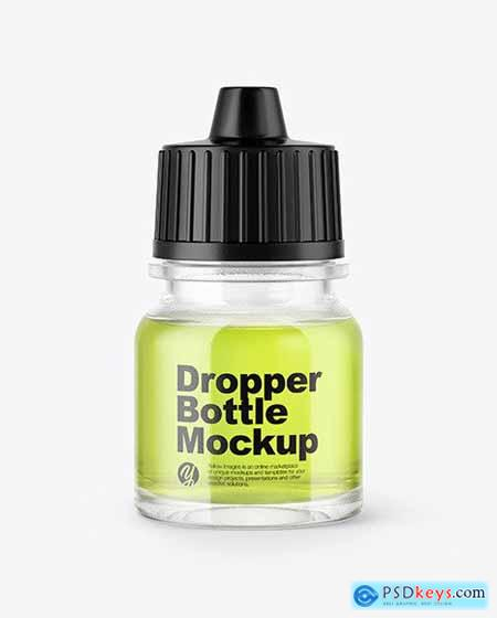 5ml Clear Glass Dropper Bottle Mockup 50393