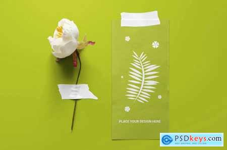 Taped Paper Mockup