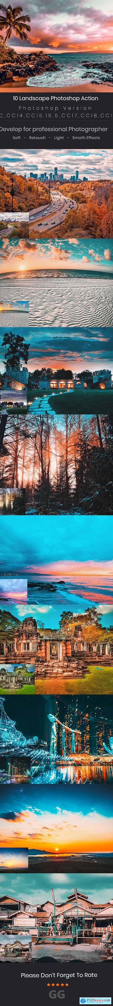 10 Landscape Photoshop Action 24688104