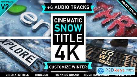 Videohive Winter Snow Logo Title V.2 3539261