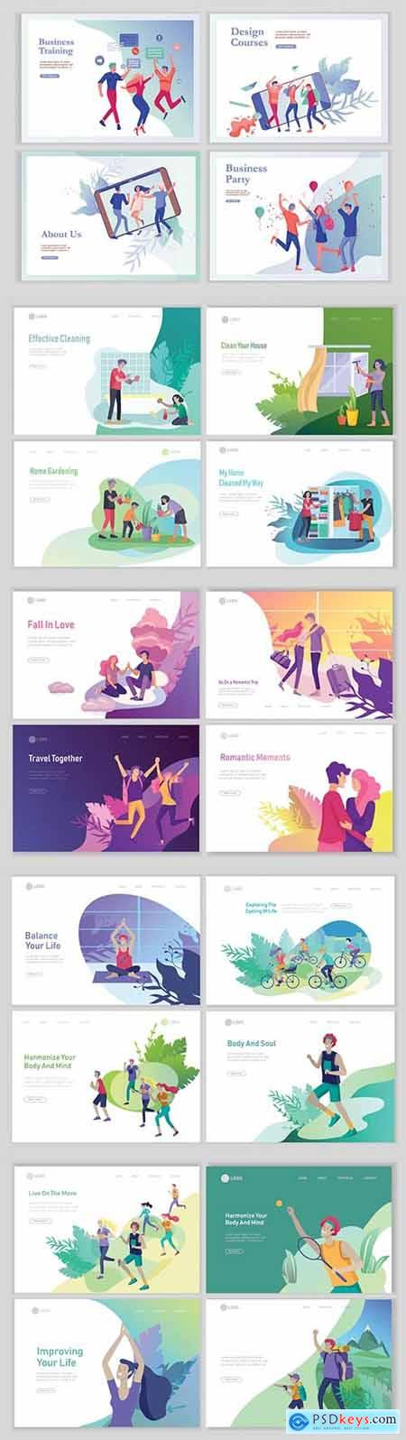 Website page isometric vector, flat banner concept illustration # 3