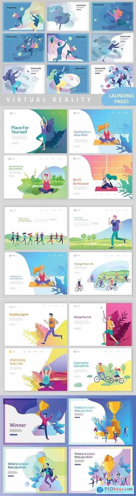 Website page isometric vector, flat banner concept illustration # 5