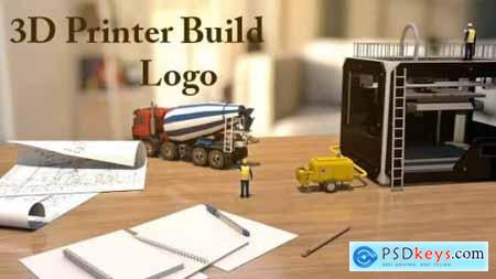 Videohive 3D Printer Build Logo 20419455