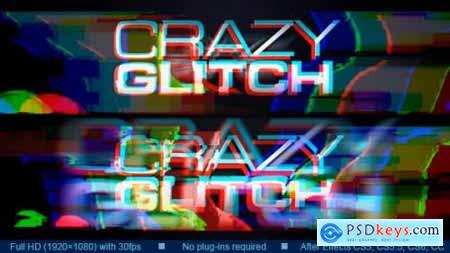 Videohive Crazy Glitch Logo Reveal 20291944