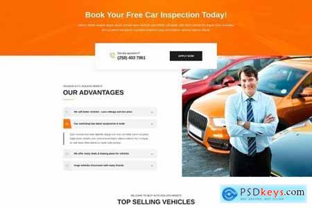 Isnaider creative, modern auto dealer PSD template