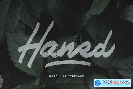 Haned Masculine Typeface Font