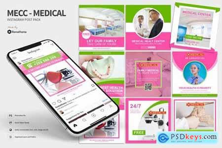 Mecc - Medical and Health Instagram Post Pack