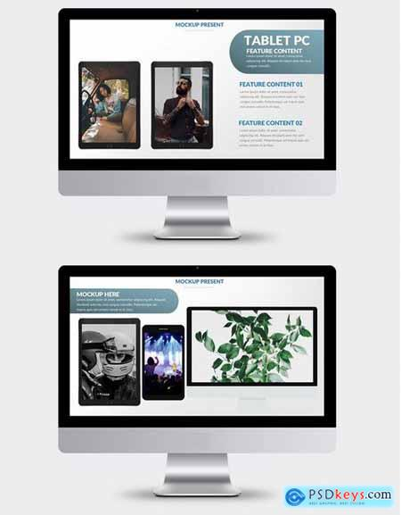 Mock-up Powerpoint and Keynote Templatess