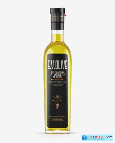 Clear Glass Olive Oil Bottle Mockup 49934