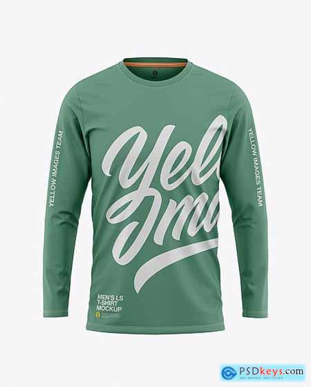 Men's Long Sleeve T-Shirt Mockup - Front View 50438
