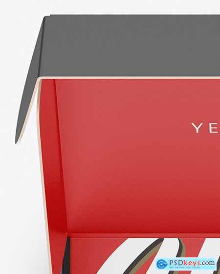 Opened Paper Box Mockup 50433