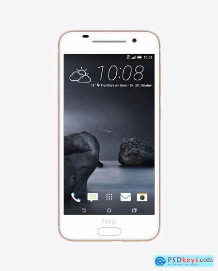 Rose Gold HTC A9 Phone Mockup 50462