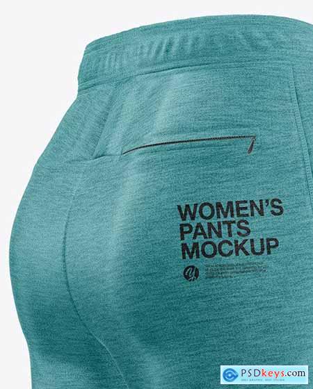 Women's Melange Pants Mockup - Back Half 50432