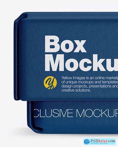 Textured Paper Box Mockup 50367