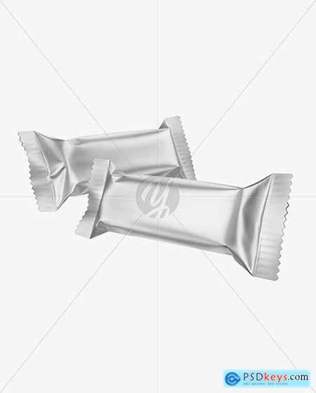 Two Matte Metallic Snack Bars Mockup 50386