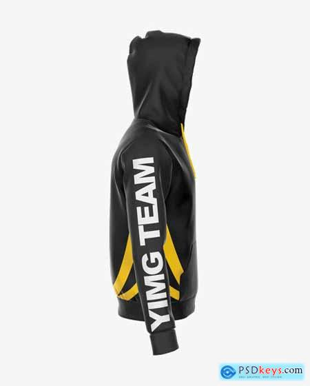 Zipped Hoodie Mockup - Right Side View 50413