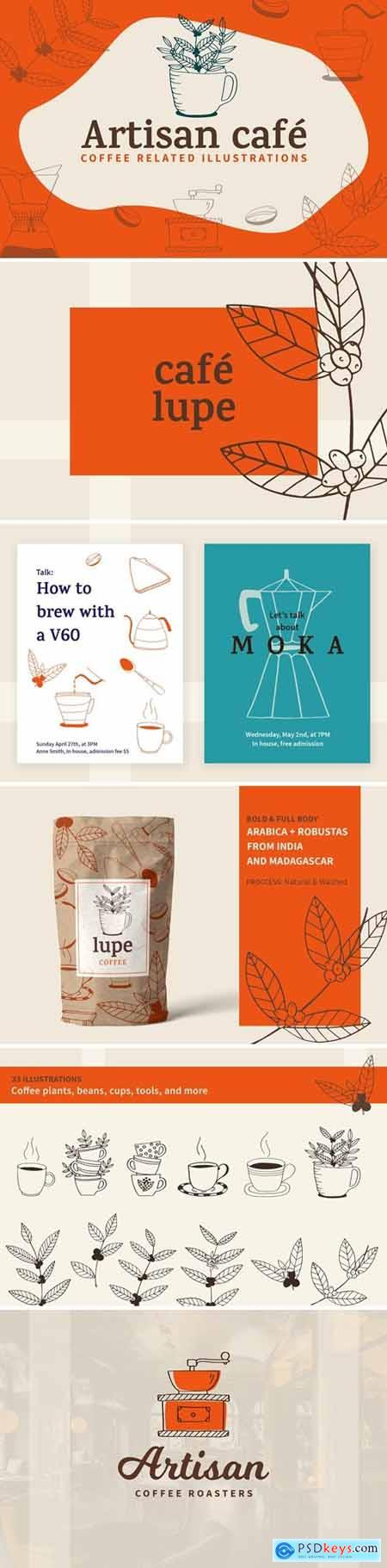 Artisan Cafe illustrations 3492076