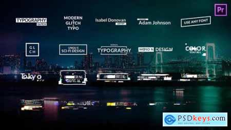 Videohive Glitch Titles Animations for Premiere Pro 24236340