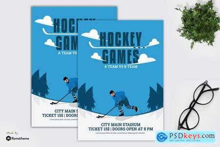 Hockey Games - Flyer Template