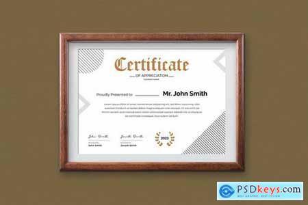 Certificate Template - A4 v5