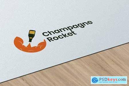 Champagne Rocket - Logo Template