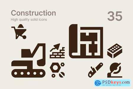 Construction Business and Communication Icons Pack