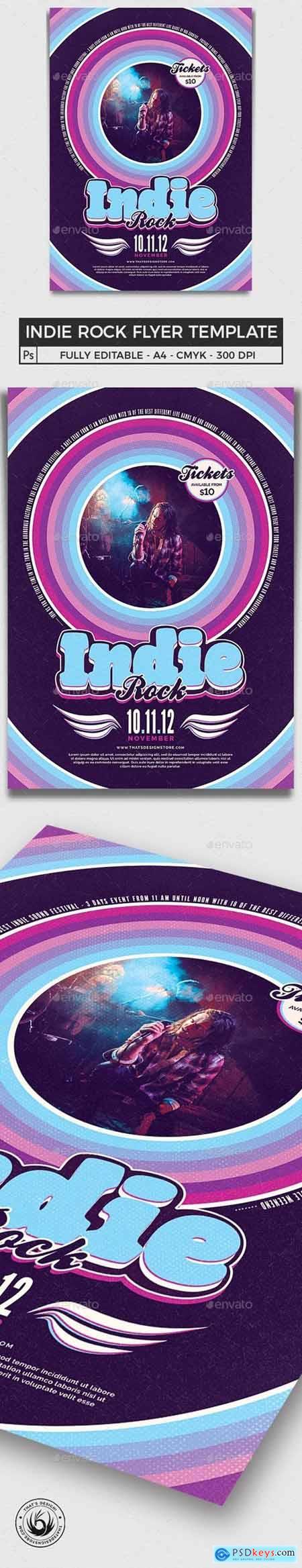 Indie Rock Flyer Template V5 24882755