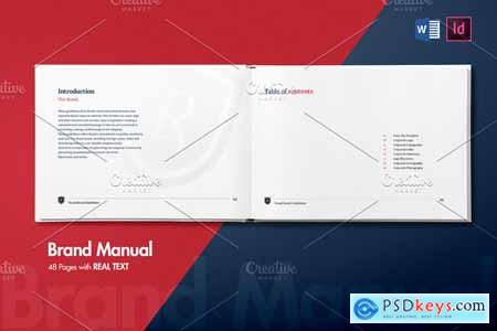 Brand Manual 48 Pages - REAL TEXT 4229788