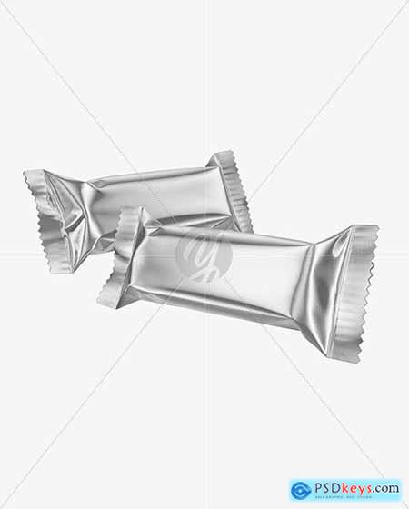 Two Metallic Snack Bars Mockup 50389