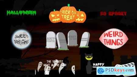 Videohive Halloween Titles FCPX 24881136