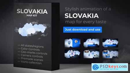 VideoHive Slovakia Map - Slovak Republic Map Kit 24264156