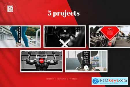 Fitness & Gym Social Media Banners Pack
