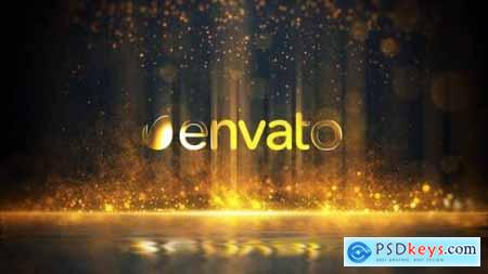 Videohive Golden Particles Glitter Logo 24895583