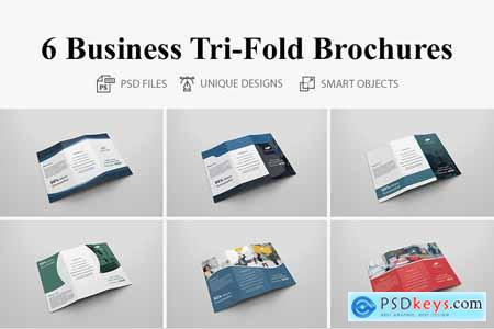 6 Business Tri-fold Brochures 4160628