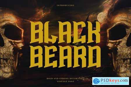 Blackbeard - Vintage Bold Display Typeface